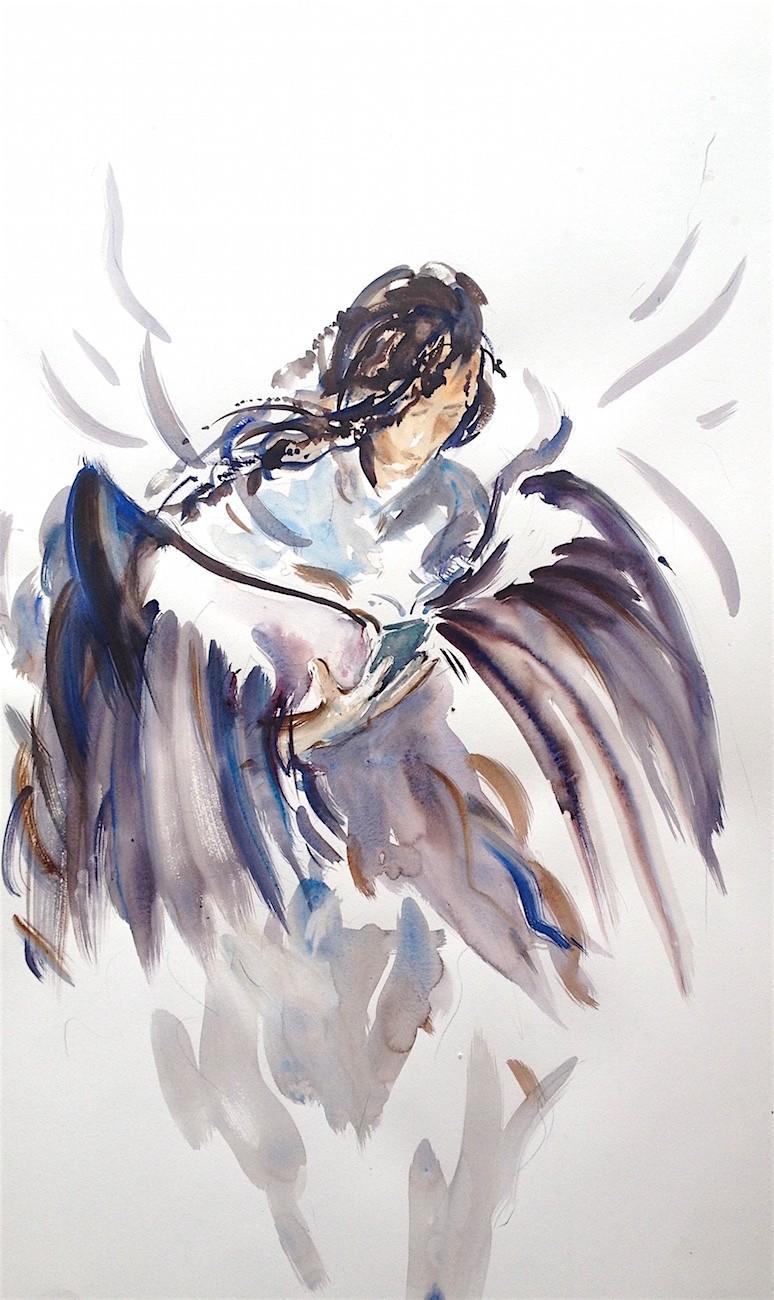 Bird Emerging Sky